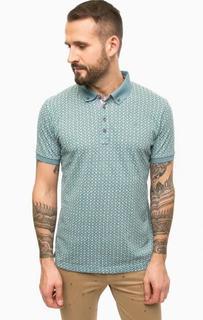 Бирюзовая футболка поло из хлопка Lerros