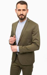 Классический пиджак цвета хаки Drykorn
