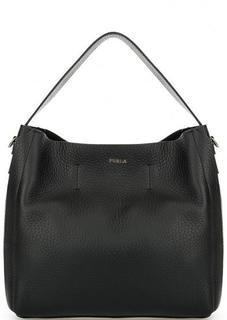 Кожаная сумка черного цвета Furla