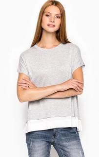 Серый джемпер с круглым вырезом More & More
