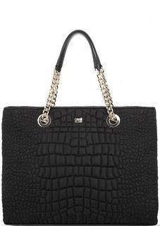 Стеганая черная сумка на молнии Cavalli Class