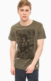 Хлопковая футболка с короткими рукавами Blend