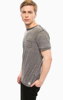 Серая футболка в полоску Blend