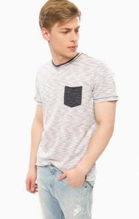 Хлопковая футболка в полоску Blend
