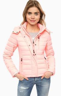 Розовая куртка с капюшоном Superdry