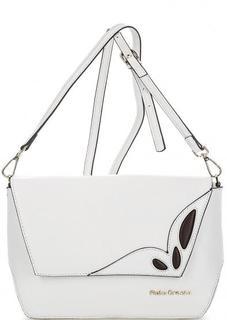 Кожаная сумка с контрастными вставками Fiato Dream