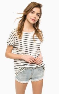 Белая футболка в полоску Superdry