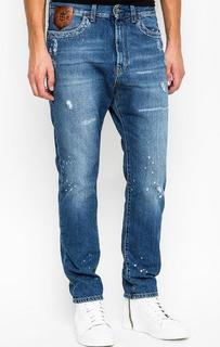 Зауженные джинсы с потертостями Bikkembergs