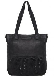 Кожаная сумка с металлическим декором Taschendieb