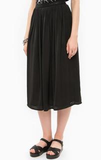 Юбка средней длины черного цвета Calvin Klein Jeans