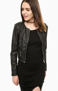 Черная куртка с отделкой молниями Alcott