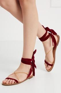 Бархатные сандалии Valentino