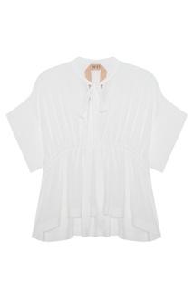 Однотонная блузка No.21