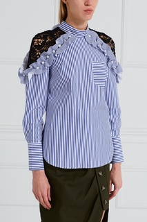 Хлопковая блузка Self Portrait