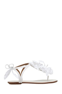 Замшевые сандалии Flora Sandal Flat Bridal Aquazzura
