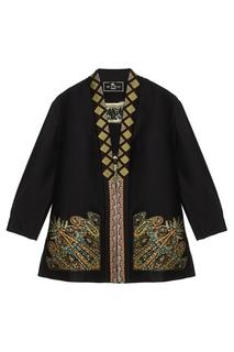 Комбинированное пальто Etro