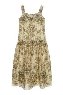 Платье из шелка и льна Alena Akhmadullina