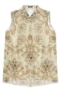Блузка из шелка и льна Alena Akhmadullina