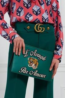 Кожаный клатч LAveugle par Amour Gucci