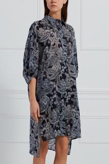 Комбинированное платье-рубашка Acne Studios
