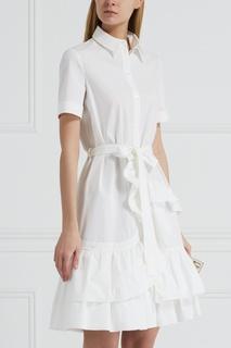 Хлопковое платье-рубашка Boutique Moschino