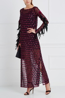 Платье с пайеками и перьями Esve