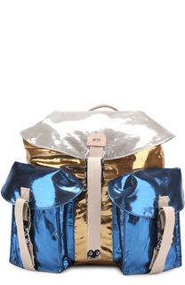 Рюкзак из металлизированной эко-кожи No. 21