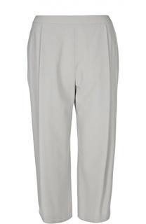 Укороченные прямые брюки с защипами Armani Collezioni