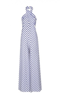 Комбинезон в полоску с одной лямкой и широкими брючинами Ralph Lauren