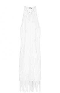 Платье-миди без рукавов с бахромой Tom Ford