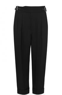 Укороченные брюки с защипами и поясом Tom Ford