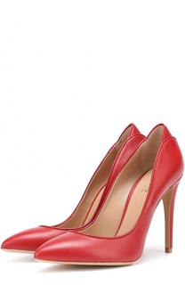 Кожаные туфли на шпильке Armani Collezioni