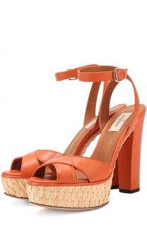 Кожаные босоножки Baracoa на высоком каблуке и платформе Valentino