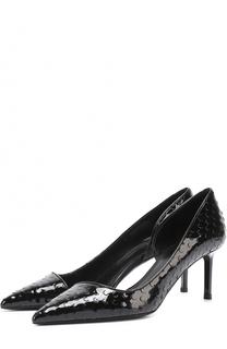 Лаковые туфли Anja с фактурной выделкой Saint Laurent