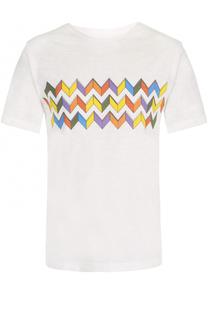 Хлопковая футболка с принтом Missoni