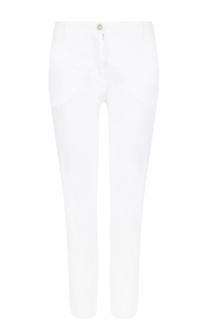 Льняные укороченные брюки прямого кроя 120% Lino