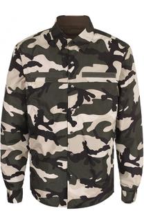 Двусторонняя куртка на кнопках с камуфляжным принтом Valentino