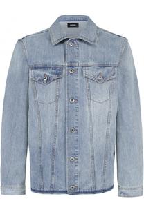 Джинсовая куртка на пуговицах свободного кроя Diesel