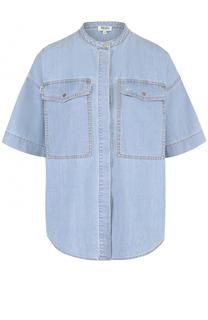 Джинсовая блуза с накладными карманами Kenzo