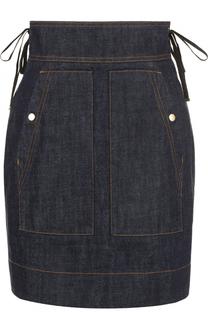 Джинсовая мини-юбка с широким поясом Kenzo