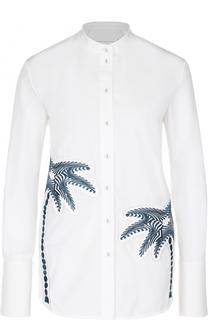 Блуза прямого кроя с вышивкой в виде пальм Victoria by Victoria Beckham