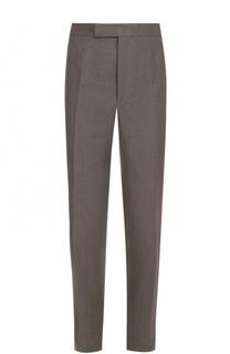 Льняные брюки прямого кроя Thom Browne