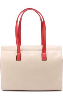 Кожаная сумка-тоут Armani Collezioni