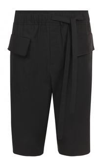 Удлиненные хлопковые шорты с заниженной линией шага Damir Doma