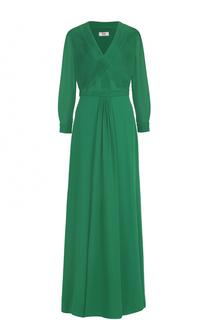 Платье-макси с укороченными рукавами и V-образным вырезом Weill