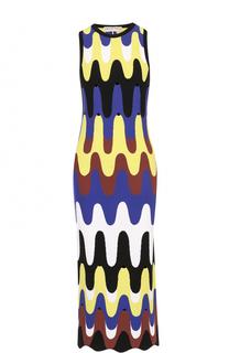 Вязаное платье-футляр с ярким принтом Emilio Pucci