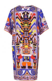 Шелковое мини-платье с ярким принтом Emilio Pucci