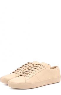 Кожаные кеды Court Classic на шнуровке Saint Laurent