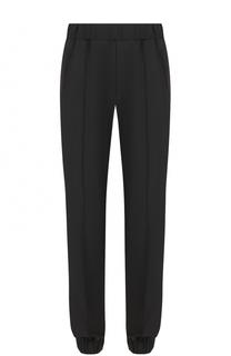 Шерстяные брюки прямого кроя с манжетами на резинке Versace