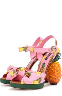 Босоножки Keira на декорированном каблуке Dolce & Gabbana